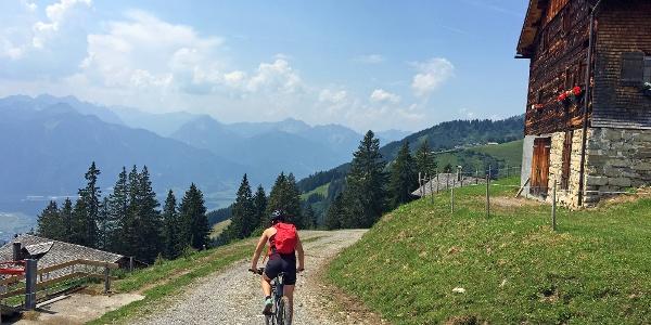 Bei der Plansott Alpe auf dem Rückweg nach St. Gerold