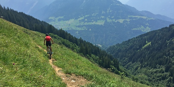 Singletrail zur Plansott Alpe