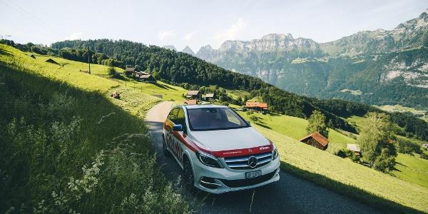 Mit dem E-Car die Ferienregion Heidiland entdecken