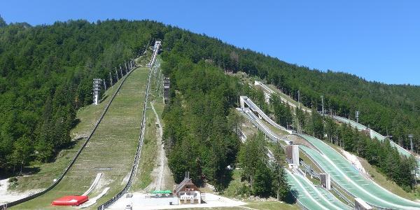 Die Schanzenanlage in Planica