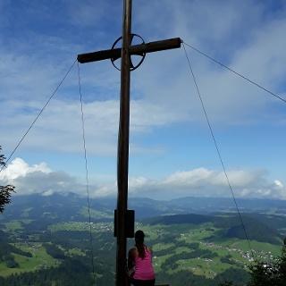 Schöne Aussicht vom Gipfel des Hittisberg