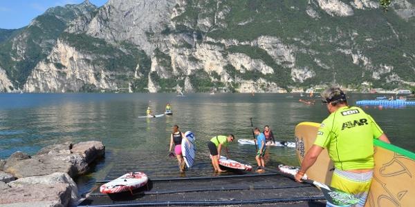 SUP Purfina at Lake Garda