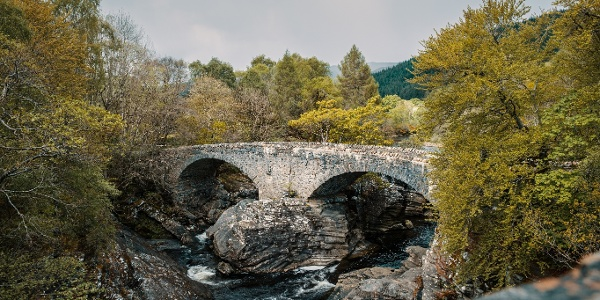 Thomas Telford bridge built in 1831 over the Moriston River at Invermoriston