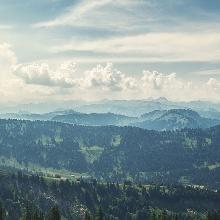 Panorama kurz nach der Bergstation