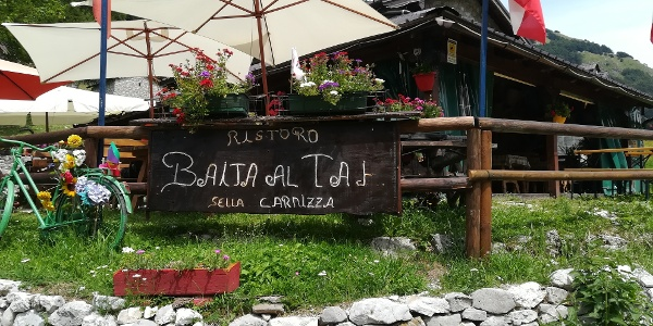 Start zur 17. Etappe des Julius-Kugy-Dreiländerweges in Stavoli Gnivizza/Baita al Taj