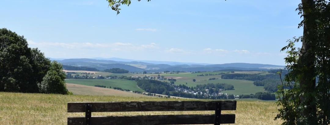 Ausblick auf den Erzgebirgskamm von der Dittersdorfer Höhe