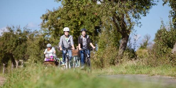 Radfahrer auf der Möhnesee-Route