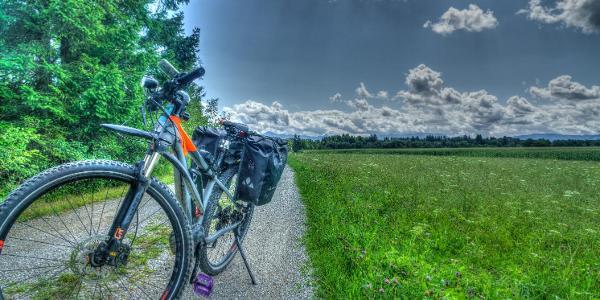Radweg zwischen Rottenbuch und Weilheim