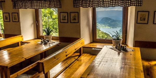 View to Bohinj Lake from Komna Hut