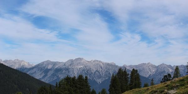 erste Ausblicke auf das Karwendel