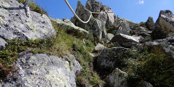 Seile im Aufstieg zum La Muotta