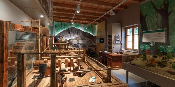 Működőképes ipari modellek a Királyréti Kirándulóközpont múzeumában