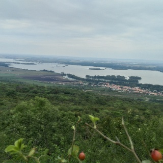 panoramic views of water reservoir Nové Mlýny