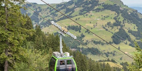 Anreise mit der Luftseilbahn Kräbel - Rigi Scheidegg
