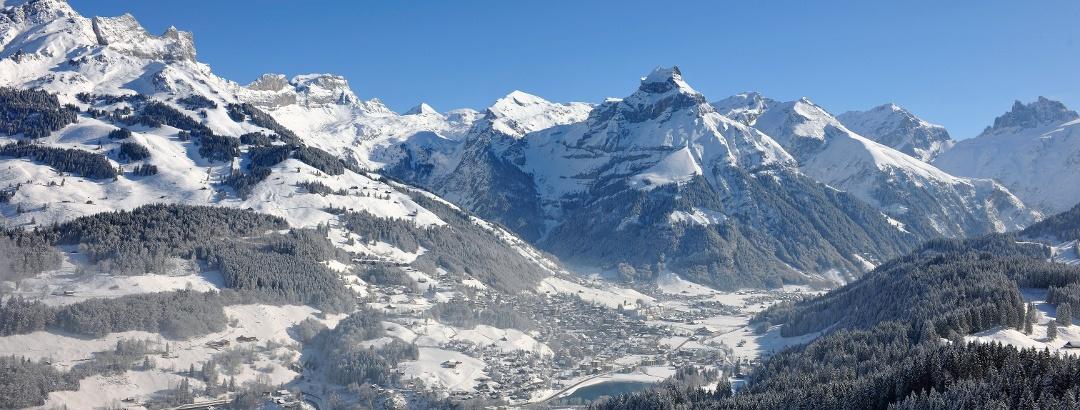 Winterpanorama Engelberg