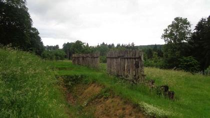 römische Palisaden auf dem Dielsberg (Juni 2019)