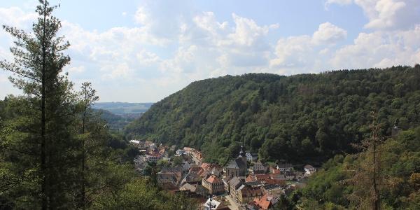 Schöne Aussicht nach Bad Berneck