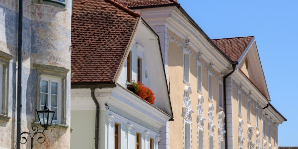 Facades in Radovljica old town