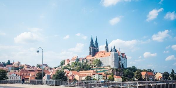 Blick auf Meißen mit Albrechtsburg und Dom