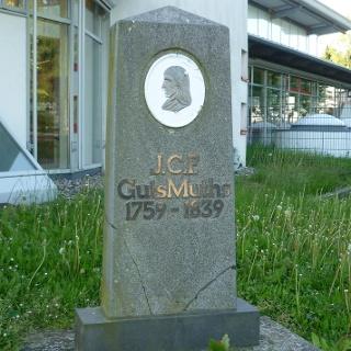 GutsMuths Denkmal in Neustadt am Rennweg