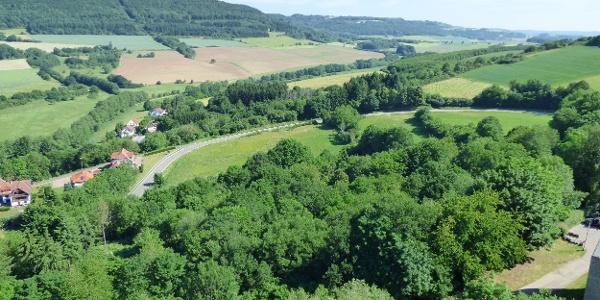 Blick von Burg Lichtenberg