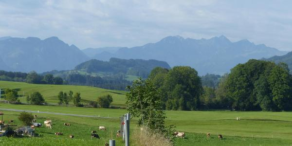 Kurz hinter Grainbach gibt es gleich schöne Blicke