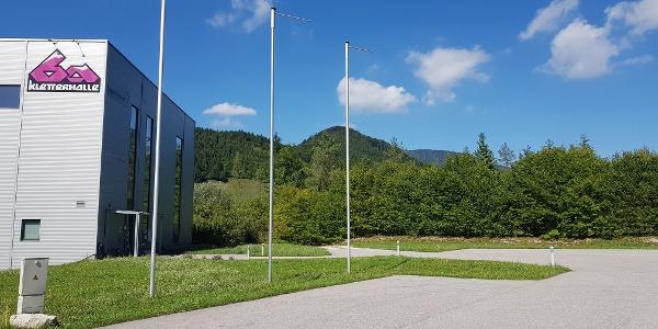 Startpunkt und Parkmöglichkeit bei der Kletterhalle 6a