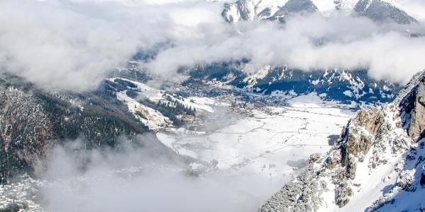 Aufstieg zur Biberwierer Scharte. Kann man auch gut mit Ski gehen.
