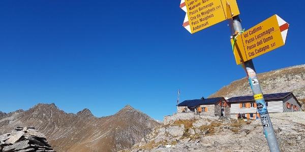 Zwischenhalt Cadlimohütte