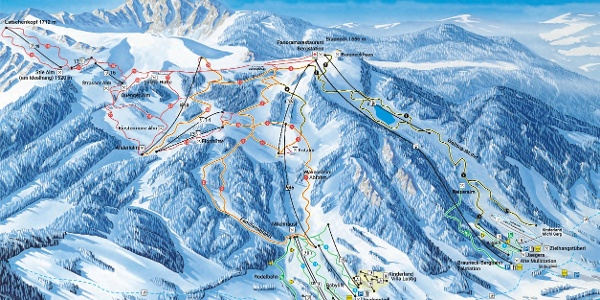 Winterpanorama Skiregion Brauneck