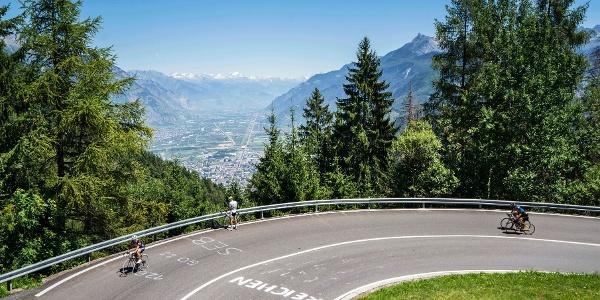 Radfahrer vom Tour de France, Col de la Forclaz