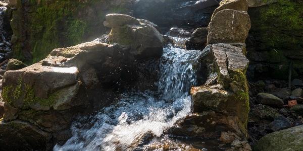 A Telgárthy réten számtalan csobogó és vízesés található