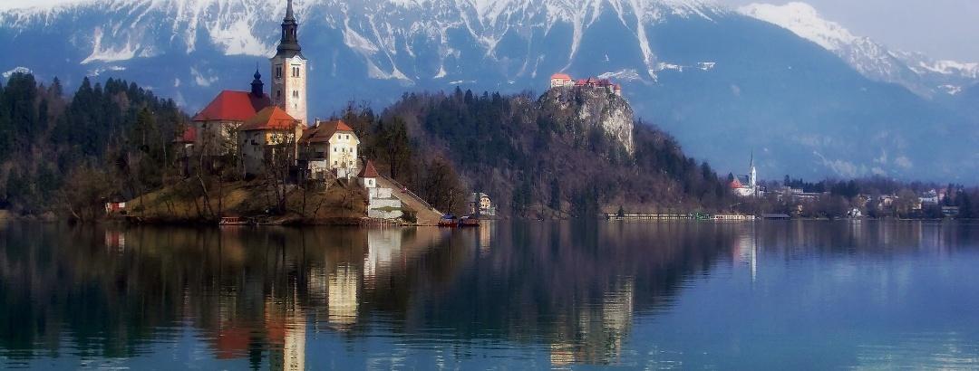"""Die Insel """"Blejski Otok"""" auf dem Bleder See"""