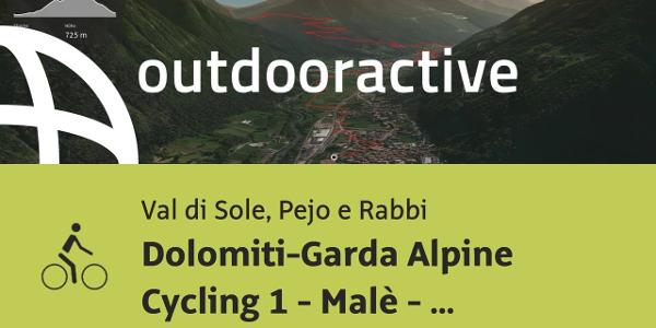 Radtour im Val di Sole, Pejo e Rabbi: Dolomiti-Garda Alpine Cycling 1 - Malè - Pinzolo