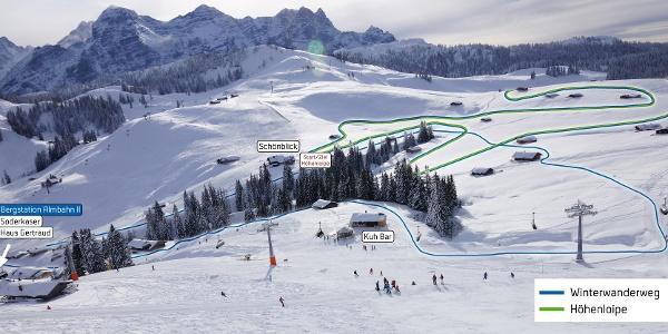 Plan Winterwanderg/Loipenplan Almenwelt Lofer