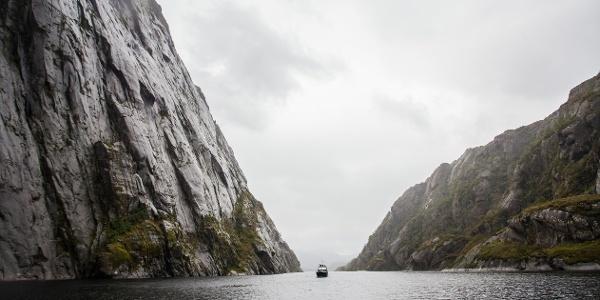 Ship goes to Trollfjorden