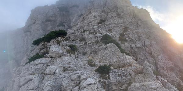 Kletterei auf den Baffelan
