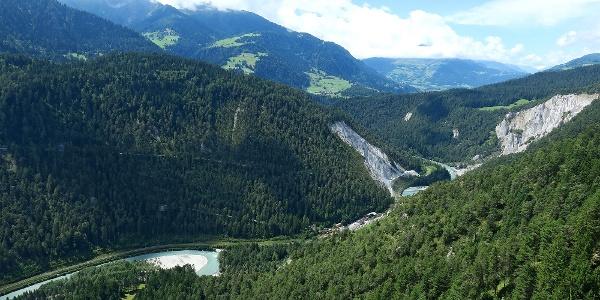 Blick von Conn über die Rheinschlucht.