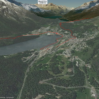 Mountainbike-tour in Graubünden: KtGR St. Moritz 'big circle flow line'