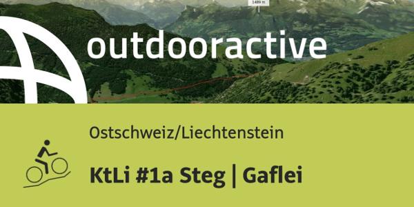 Mountainbike-tour in der Ostschweiz/Liechtenstein: KtLi #1a Steg   Gaflei