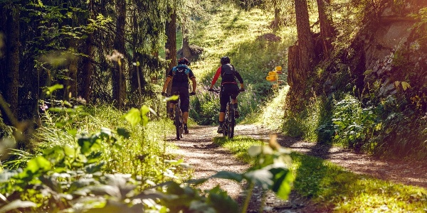 Mountain bikers near Bürchen