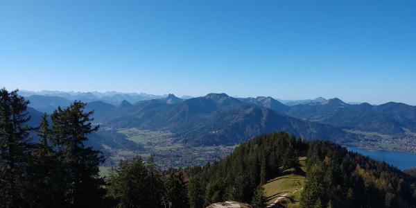 Das Rottacher Tal mit Blick bis zur Zugspitze