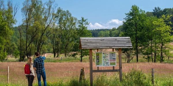 Wanderportal im Naturschutzgebiet Weißbachtal