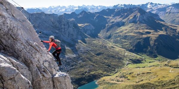 Klettersteig Partnunblick mit Partnunsee
