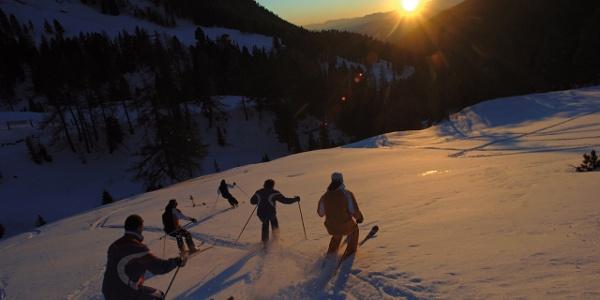 Skiing in Obereggen, Italian Alps