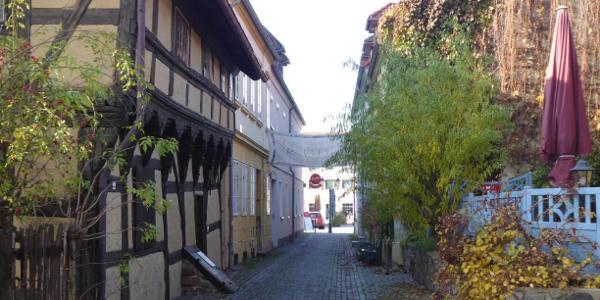 Kirchgasse mit ältestem Haus