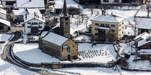 Kirche St. Martin im Winter