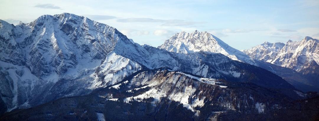 Blick zu den Berchtesgadener Alpen