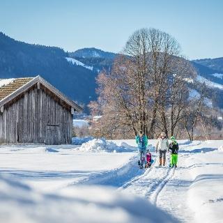 Winterwanderung am Höhenweg in Richtung Arzbach