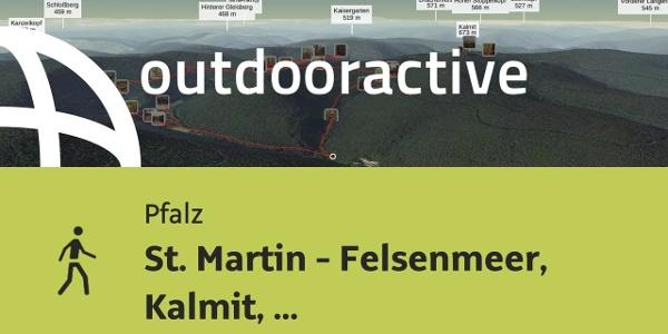 Wanderung in der Pfalz: St. Martin - Felsenmeer, Kalmit, Auerochsenweide und Sandwiesenweiher